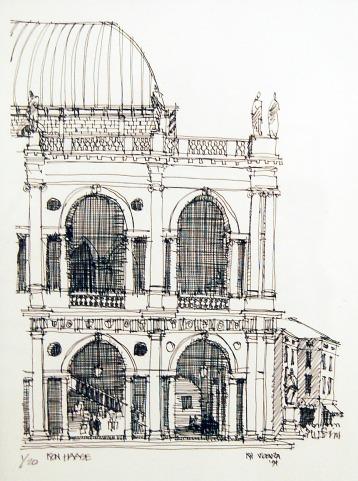 Basilica Palladiana, Vicenza – Pen and Ink