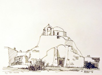 Paraportiani, Mykonos – Pen and Ink