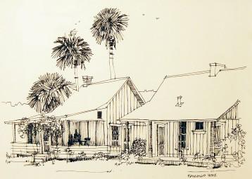 Rawlings Home, Cross Creek – Pen and Ink