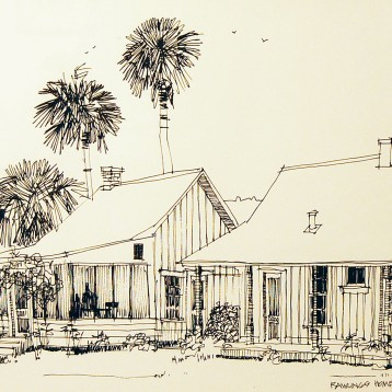Rawlings Home, Cross Creek – Pen and Ink