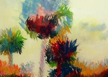 Trout Street Palms – Pastel
