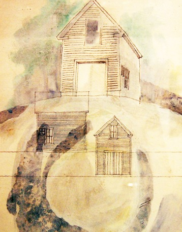 Study: Marine Shed – Graphite and Wash