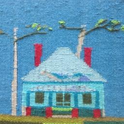 Haase Paintings + Tapestry on display in May Art Walk
